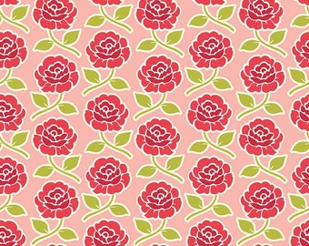 Farm Girl Rose Trellis Pink by October Afternoon for Riley Blake, 1/2 yard, C5022-Pink