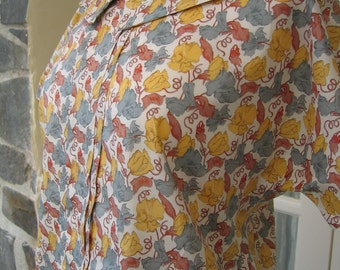 Liberty Blouse & Skirt Yellow Floral Size Medium
