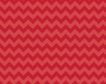 One Yard Small Chevron - Tone on Tone in Red - Cotton Quilt Fabric - C400-81 - RBD Designers for Riley Blake Designs (W3334)