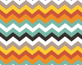 One Yard Luckie - Durango in Red - Chevrons Cotton Quilt Fabric - by Maude Asbury for Blend Fabrics - 101.115.03.1 (W3453)