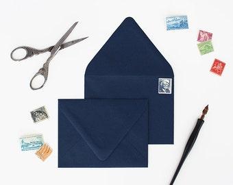 Envelopes - A7 Size - Set of 25 - Nautical Color - Deep V Euro Flap