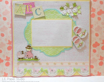 Custom 12 by 12 Scrapbook Album and Layouts