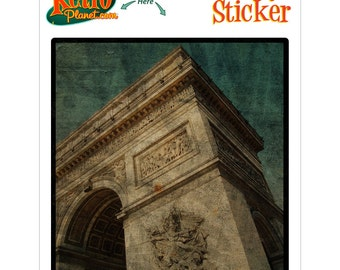 Arc de Triomphe Above Rovinato Vinyl Sticker - #64586