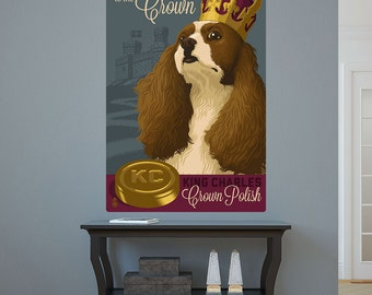 King Charles Spaniel Crown Polish Dog Wall Decal - #66952