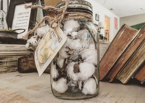 Destressed cotton stem mason jar - Stemmed mason jars ...