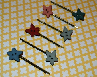 Country Starred Hair Bobby Pins