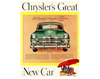 vintage newspaper poster advertisement for 1949 Chrysler - 14