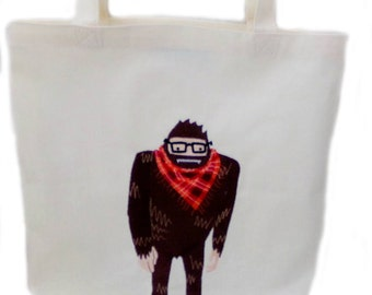 Sasquatch Hippie Tote Bag Purse