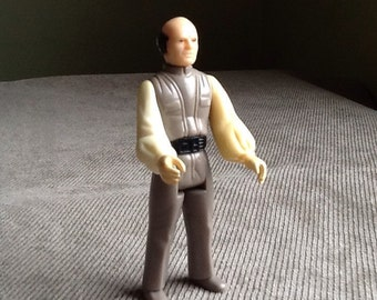 Vintage Original Star Wars Empire Strikes Back Lobot (Lando's Aid) Loose Action Figure By Kenner Made In Hong Kong From 1980