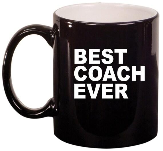 11oz Ceramic Coffee Tea Mug Glass Cup Best Coach Ever By