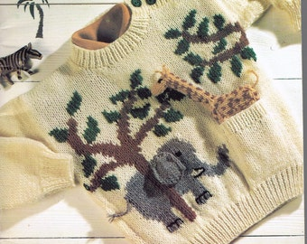 Animal Hoodie Knitting Pattern : Knitting pattern animal sweater   Etsy