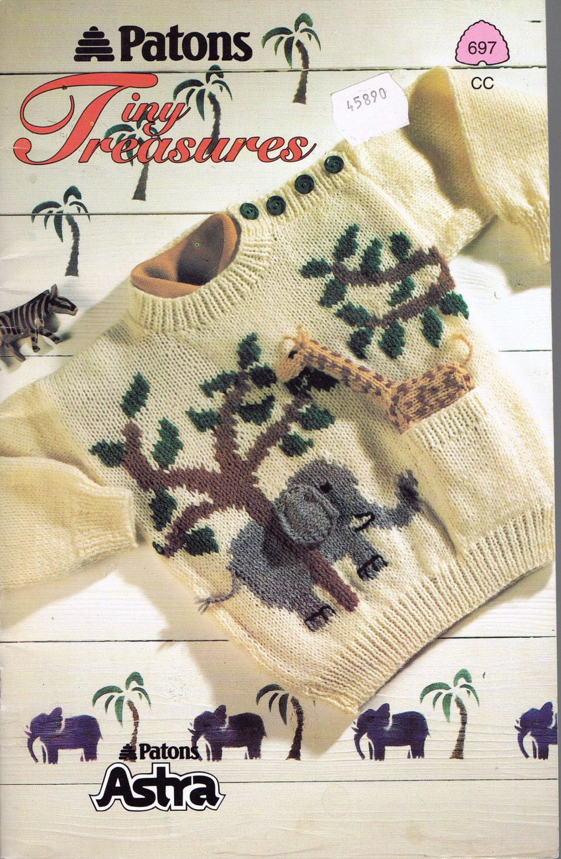 Childs Sweater Knitting Pattern Tiny Treasures Animal