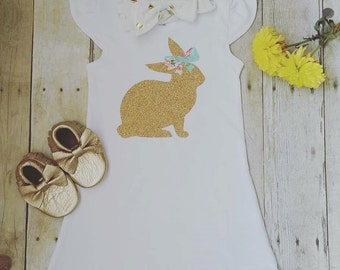Easter Dress, Easter Outfit, Personalized Easter Dress, Personalized Dress, Toddler Dress, Bunny Dress, Easter, Bunny Rabbit Outfit