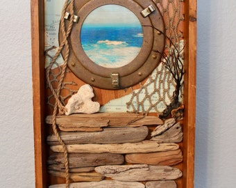 The Sea Captains Drawer - Found Object Assemblage