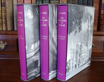 THE CATHEDRALS of ENGLAND - 3 vols Folio Society