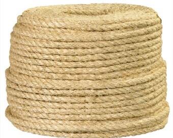 "1/4"" Natural Sisal Rope - 1500 ft"