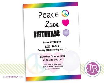 Peace Love Birthdays