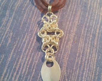 Olivia chainmaile scale pendant