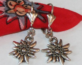 National costume  earrings with edelweiss