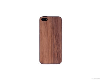 Real Walnut iPhone 5 5s 4 4s Wood Skin