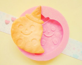 45mm Ghost Halloween Cookie Flexible Silicone Mold - Decoden Kawaii Sweets Resin Fimo Polymer Clay Sculpey Wax Soap Fondant Cabochon