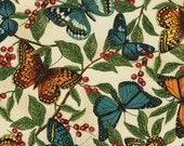 Timeless Treasures fabric, Butterfly Fabric - Modern Curiosity by Sue Schlabach for Timeless Treasures c4568 Natural - 1/2 yard price