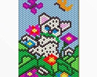 Baby White Tiger bead banner pattern