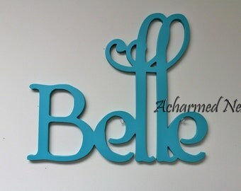 Personalized Wooden Name Sign, Nursery Decor, Wall Hanging Letters for Nursery, Home Decor, Baby Shower Gift, Custom Wooden Name Sign