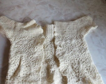 Vintage Crocheted Baby Sweater