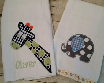 Personalized Burp Cloths, Burp Cloths, Baby Shower Gift,