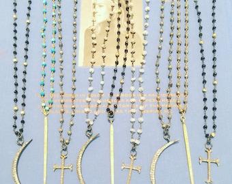 Pave' Pendant Necklaces