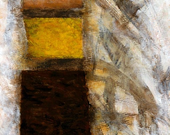 Modern Art, Art Print, Giclee Print, Wall Art, Canola Field, Ned Kelly, Australian Painting, Abstract Collage, Painting with Yellow
