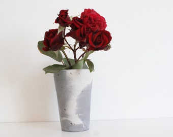 Concrete Vase/Outdoor vase/Marble vases/Gray vases/Garden vases/Gift for her