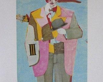 RICHARD LINDNER - 'Letter from New York' - limited edition vintage lithograph - c1977 (Mourlot/Maeght/DLM, Paris)