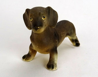 Vintage Porcelain Dachshund Figurine FREE SHIPPING