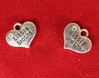 """BULK! 15pc """"Little brother"""" charms in antique silver style (BC1062B)"""