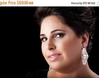 ON SALE Silver Architecture Jewelry - Architectural Jewelry - Architecture  Earrings for her
