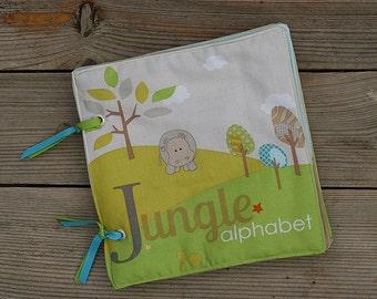 Jungle alphabet Fabric book