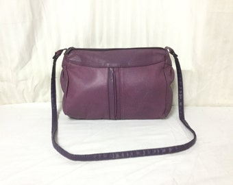 Free Ship, Toni,purse,bag, Purple ,Leather ,leather Purse, Shoulder Bag