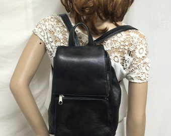 Backpack bag,Leather backpack,Black, leather ,back pack, Made in Columbia,Free shipping in the US