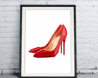 Fashion Wall Decor high heels art print vanity wall decor fashion wall art