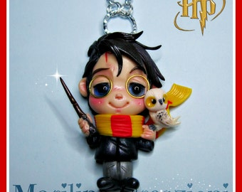 Necklace Harry Potter and Hedwig fan art
