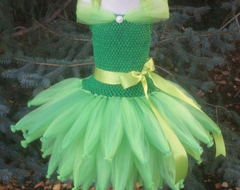 Customizable Fairy Tutu Dress, Fairy Princess, Fairy Costume, Tinkerbell Costume, Baby Tinkerbell, Baby Tink, Tinkerbell Tutu