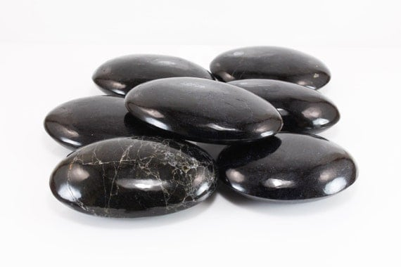 Black Tourmaline Palm Stone, Polished, M-1866