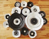30 black and white anemones