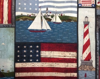 One Half Yard of Fabric - Americana Collage
