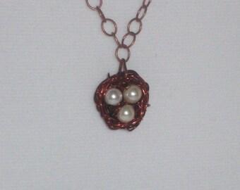 birds nest pendant