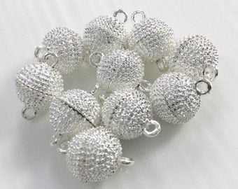 10 Pcs 12mm Silver plated Metal Magnetic  Clasp