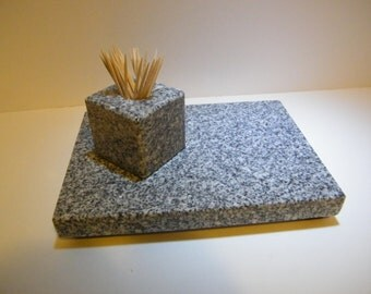 Trivet,  Trivet Set, Trivet and Toothpick Holder, Stone Trivet Set