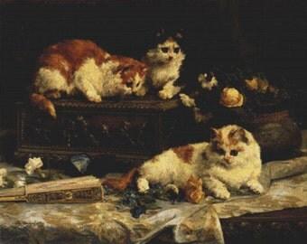 The Three Kittens PDF Cross Stitch Pattern